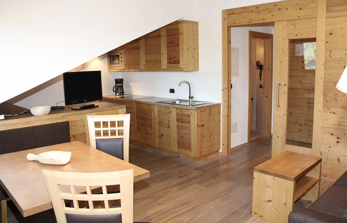 Details of the kitchen of the Apartment in Selva Val Gardena