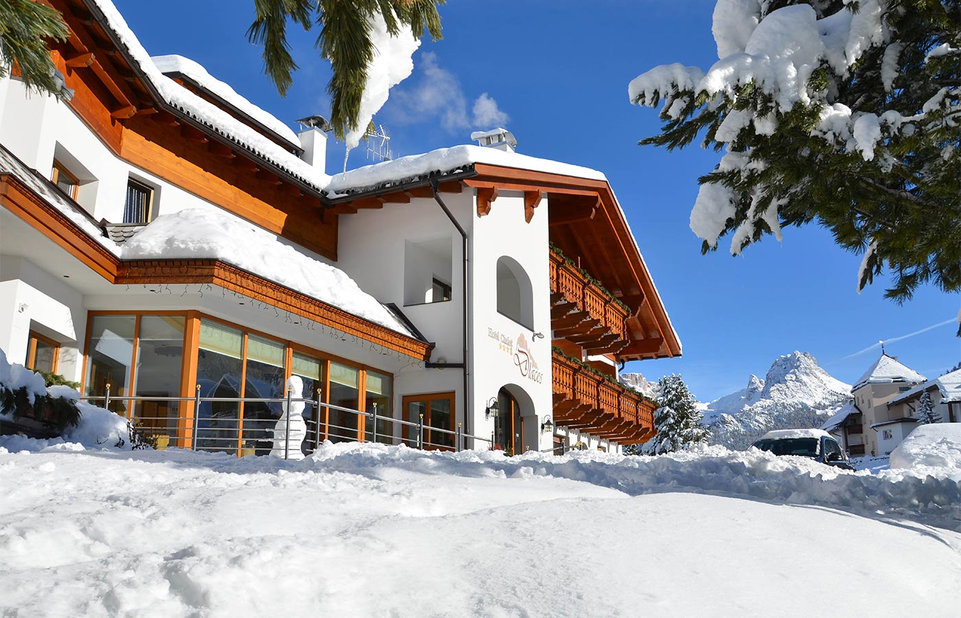 Chalet Dlaces directly on the slopes